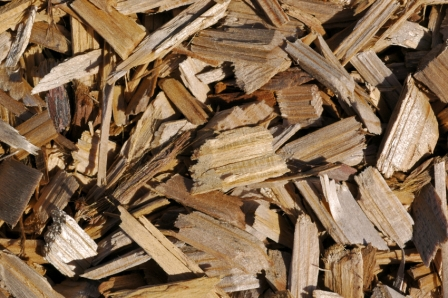 Wood chips background.